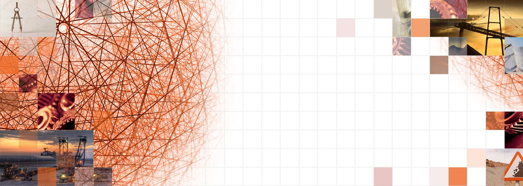 Titelbild Startseite, Gitternetz