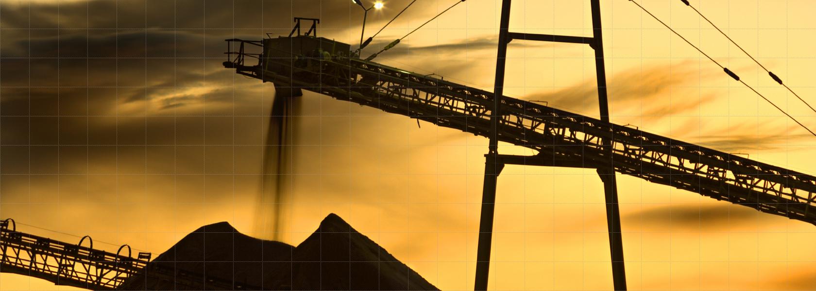 Sliderbild Startseite Volumenstrommessung - Absetzer im Tagebau