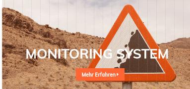 Slider Monitoring System Mobilansicht, Warnschild Erdrutsch
